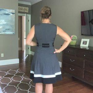 Calvin Klein Belted Color Block Dress